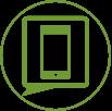 Phone Circle Green 100