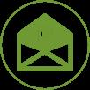 Email Circle Green 100